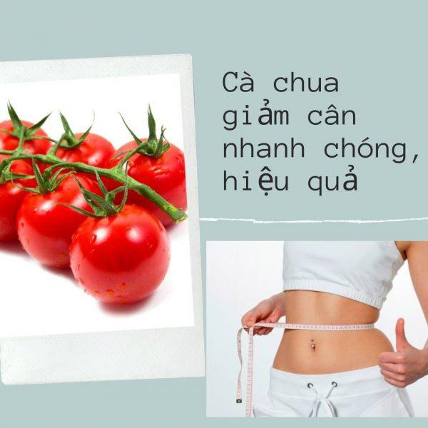 Giảm cân bằng cà chua an toàn